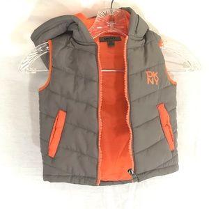 DKNY Infant boy's Sleeveless Hooded Puffer Vest